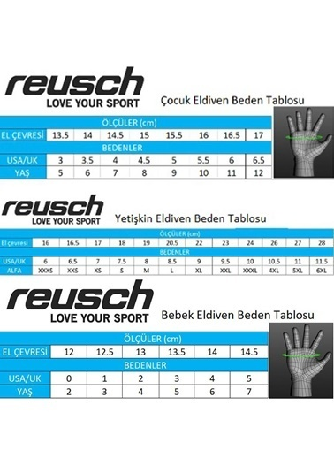 Reusch Kayak Eldiveni Sarı